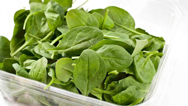 Spinach is bursting with folic acid, magnesium and vitamins A and C.