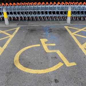 A man received a parking fine after pulling into a loading bay because his false leg had fallen off