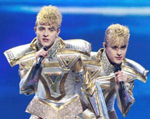 JEDWARD'S bid to win Ireland's first Eurovision prize in 16 years fell as flat as their hairdos last night