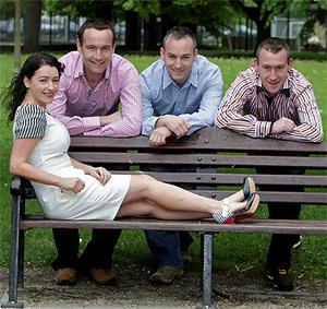 The Duffy Quads pictured recently in their hometown of Carrickmacross, Co Monaghan, left - right are Orla, Thomas, Niall and John Paul