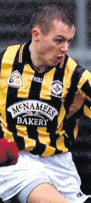 Victim James Hughes, pictured playing for Crossmaglen Rangers GAA team