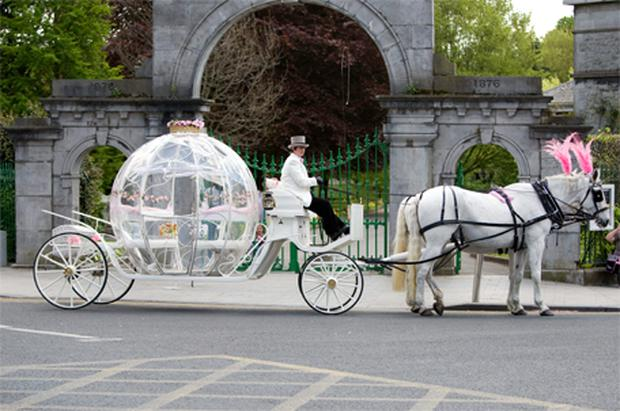 OSTENTATIOUS: Wayne Dundon's daughter was paraded in a 'Cinderella' carriage on her Communion