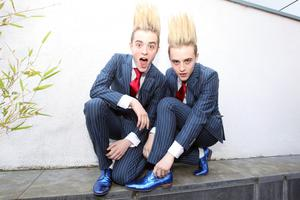 27/5/12 Jedward arrive home from the Eurovision to Dublin Airport. Picture:Arthur Carron/Collins