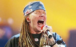 Axl Rose of Guns 'n Roses. Photo: AFP/Getty Images