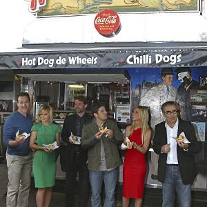 The cast of American Reunion tucked into pies in Australia