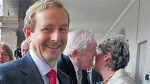 Enda Kenny at the National Day of Commemoration ceremony in the Royal Hospital Kilmainham, Co Dublin, yesterday to honour Irish soldiers