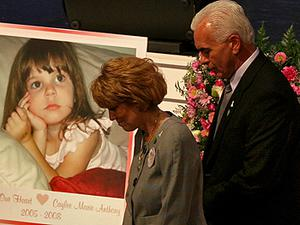 The parents of Casey Anthony, George and Cindy Anthony pictured at the memorial for their granddaughter Caylee Anthony