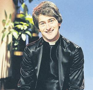 Dermot Morgan as Fr Trendy on 'The Live Mike'