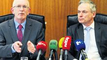 At the briefing announcing IDA Ireland's end of year results in its headquarters yesterday were CEO Barry O'Leary, and Jobs, Enterprise and Innovation Minister Richard Bruton
