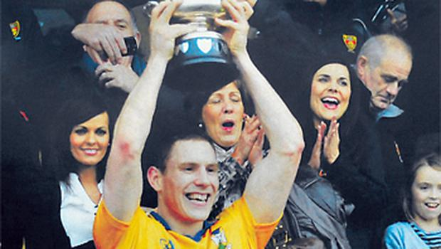 John McAreavey captained his club Tullylish to the GAA Intermediate Championship watched by Michaela Harte
