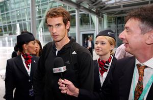 US Open winner Andy Murray arrives back at Terminal 5 at Heathrow Airport