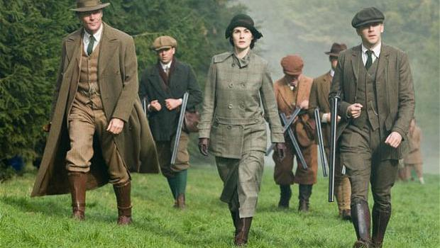 In the two-hour Christmas episode of Downton Abbey, Richard Carlisle, left, tried to exercise power over Lady Mary, centre, as Matthew Crawley keeps close by, right.