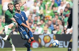 James McClean gets his shot in despite the attention of Miralem Pjanic