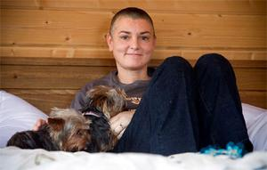 Singer Sinead O'Connor pictured for the first time at her home in Bray Co Wicklow after she ended her fourth marriage to Barry Herridge.