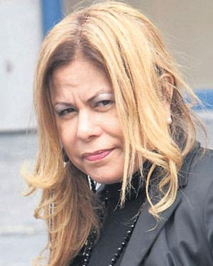 Zelandia Silva outside court yesterday.