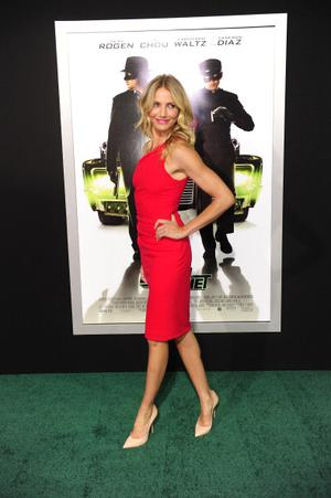 """Actress Cameron Diaz arrives for the premiere of """"The Green Hornet"""" January 10, 2011 at Grauman's Chinese Theatre in the Hollywood section of Los Angeles, California. AFP PHOTO  / Robyn Beck (Photo credit should read ROBYN BECK/AFP/Getty Images)"""