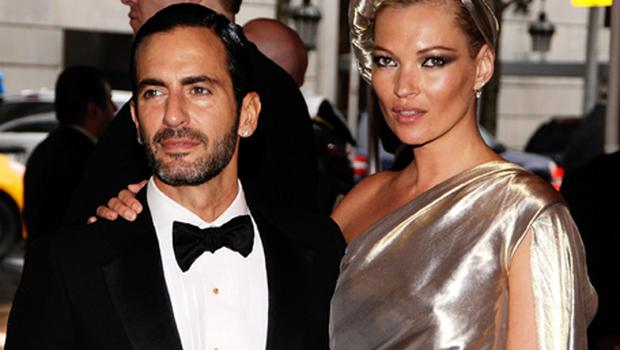 Model Kate Moss and designer Marc Jacobs. Photo: Larry Busacca, Getty Images