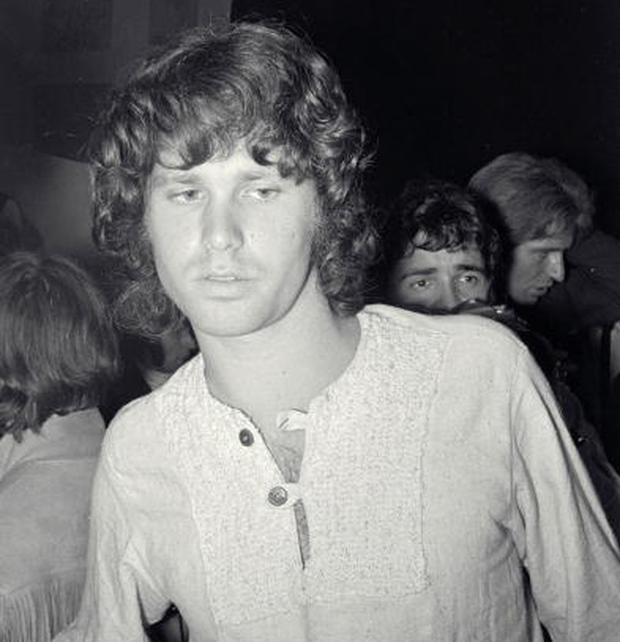 Jim Morrison, singer from the band The Doors, who drew their name from Aldous Huxley's book The Doors of Perception (Photo by Chris Walter/WireImage)