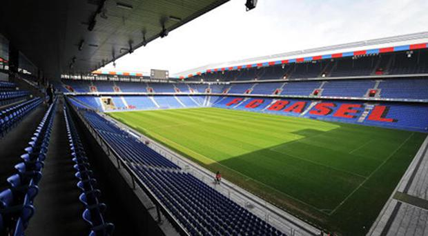 A general view of the St Jakob Park stadium in Basel. The city has emerged as Switzerland's premier football venue since the stadium was rebuilt in 2001. The multifunctional arena, which achieved UEFA four-star status in May 2002, will stage all of the co-hosts' group football matches at the UEFA Euro 2008 as well as three knockout ties. The stadium has an ultra-modern infrastructure (including solar installation on the roof of the stand). Somewhat uniquely, the stadium complex also has 107 flats for senior citizens spread over six floors. Credit: Fabrice Coffrini, Getty Images