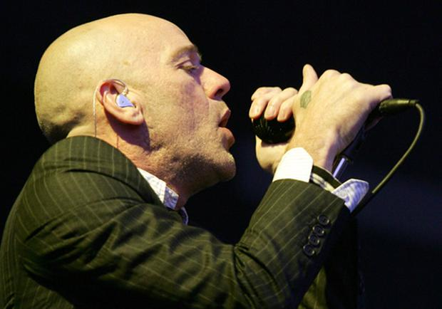 Michael Stipe of REM performs at the Westerpark on July 2, 2008 in Amsterdam, The Netherlands <b>Credit:</b> Greetsia Tent/WireImage