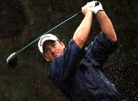 Graeme McDowell of Northern Ireland tees off on the par four 2nd hole during the second round of the Volvo Masters at the Valderrama Golf Club on October 31, 2008 in Sotogrande, Spain. Photo: Ross Kinnaird, Getty Images