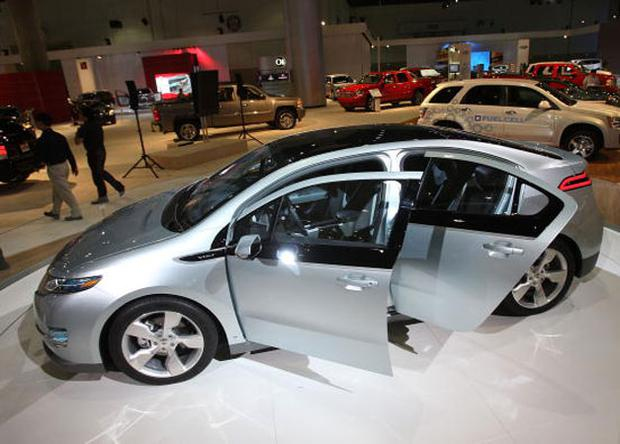 A GM Chevrolet Volt electric car. David McNew/Getty Images