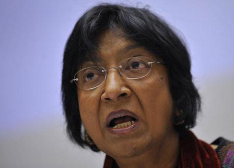 The United Nations commissioner for human rights, Navi Pillay, has already said Israel should be investigated for what happened in Zeitoun. FABRICE COFFRINI/AFP/Getty Images