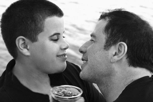 John Travolta pictured with his late son Jett. Photo: Getty images