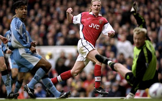 Emmanuel Petit during his time at Arsenal