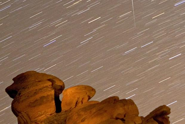 Hopefully we will be able to enjoy a shooting stars phenomenon similar to the one pictured in Nevada, USA. Photo: Getty Images