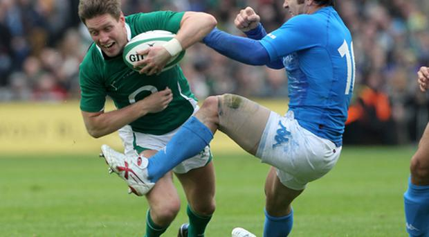 Ireland coach Declan Kidney has selected Ronan O'Gara to start as fly-half against France this weekend. Photo: Getty Images