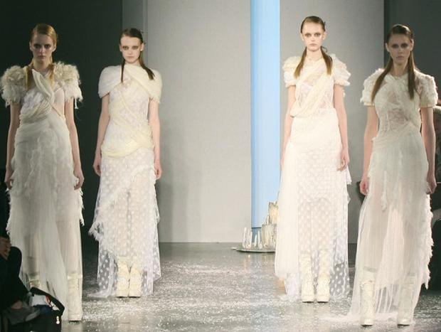 Models walk the runway at the Rodarte S/S 2010 show in New York. Photo: Getty Images