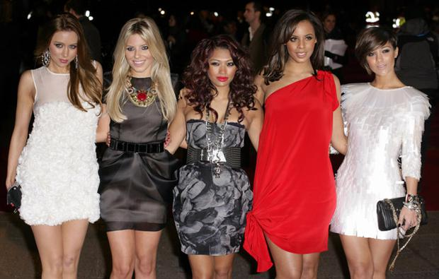 Una Healy, Mollie King, Vanessa White, Rochelle Wiseman and Frankie Sandford of 'The Saturdays'. Photo: Getty Images
