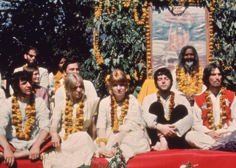 The Beatles visited the Maharishi at his ashram in India in 1968. Photo: Getty Images