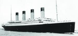RMS Titanic. Cobh was the liner's last port of call.
