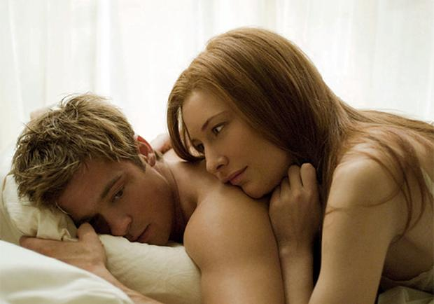 GROWING APART: Brad Pitt and Cate Blanchett as lovers in Benjamin Button, one getting younger, the other getting older