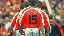 Diarmaid Marsden follows his Armagh team-mates prior to their 2002 All-Ireland final victory against Kerry