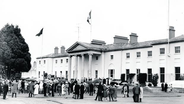 This is ALMOST Certainly a pic. of aras an uachtarain on the day of pres. kennedy's visit.