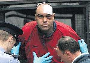 Trail of tragedy: Peter Clarke arrives in court on the day after the incident in which Marie Buckley was killed