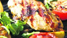 Curried, Barbecued Chicken Breasts