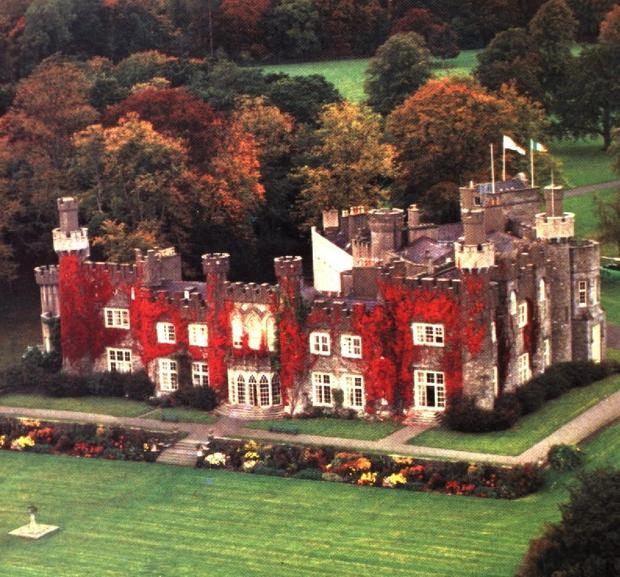 LUXURY:  David and Victoria Beckham, left, held their wedding celebrations at Luttrellstown Castle,  Co Dublin, above.