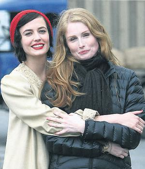 The former Bond girl with the film's director Jordan Scott, who is the daughter of Ridley Scott
