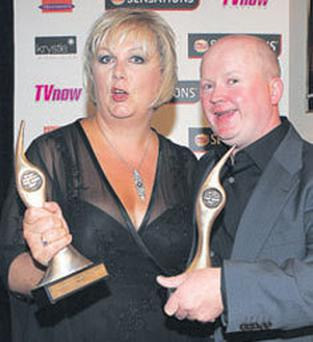 Sue Cleaver with Steve McFadden
