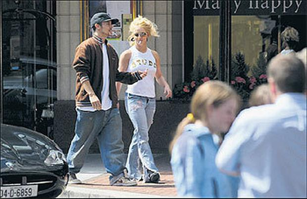 Hit my credit card one more time: Britney Spears and husband, Kevin Federline, on a trip to Brown Thomas