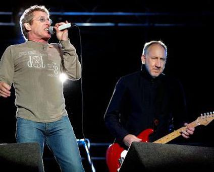 Roger Daltry and Pete Townsend from 'The Who' on stage. STEVE HUMPHREYS