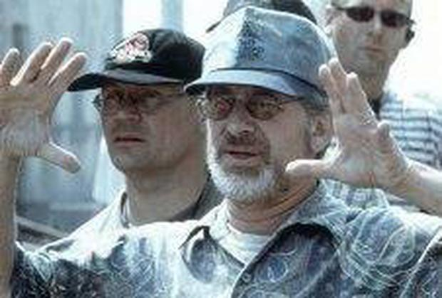 A master at work: Film director Steven Spielberg on the set of 'Saving Private Ryan'
