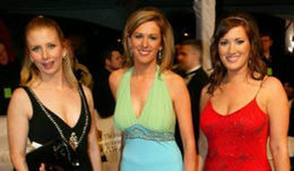 Red carpet: from left, Aisling O'Loughlin, Laura Ryan and Elaine Crowley