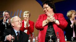 Mary Harney and Michael McDowell at a PD national conference - Renua are anxious to avoid comparisons with the now-defunct party