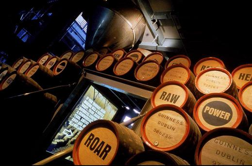 Visitors to the Guinness Storehouse can journey through the past, present and future of this worldwide super brand