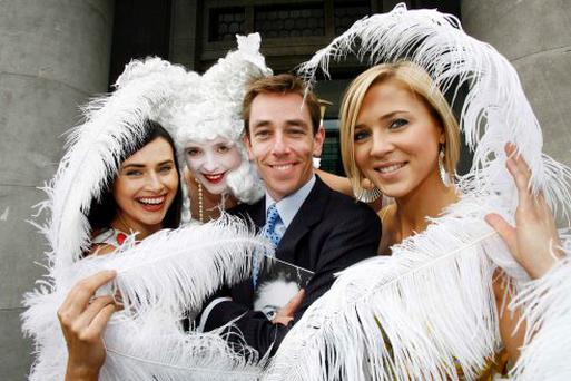 MAN OF THE MOMENT: The new look Ryan Tubridy surrounded by models at a recent concert season launch